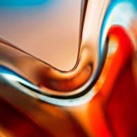 Red and Blue Glass Abstract
