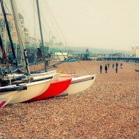 Boats on Brighton Beach