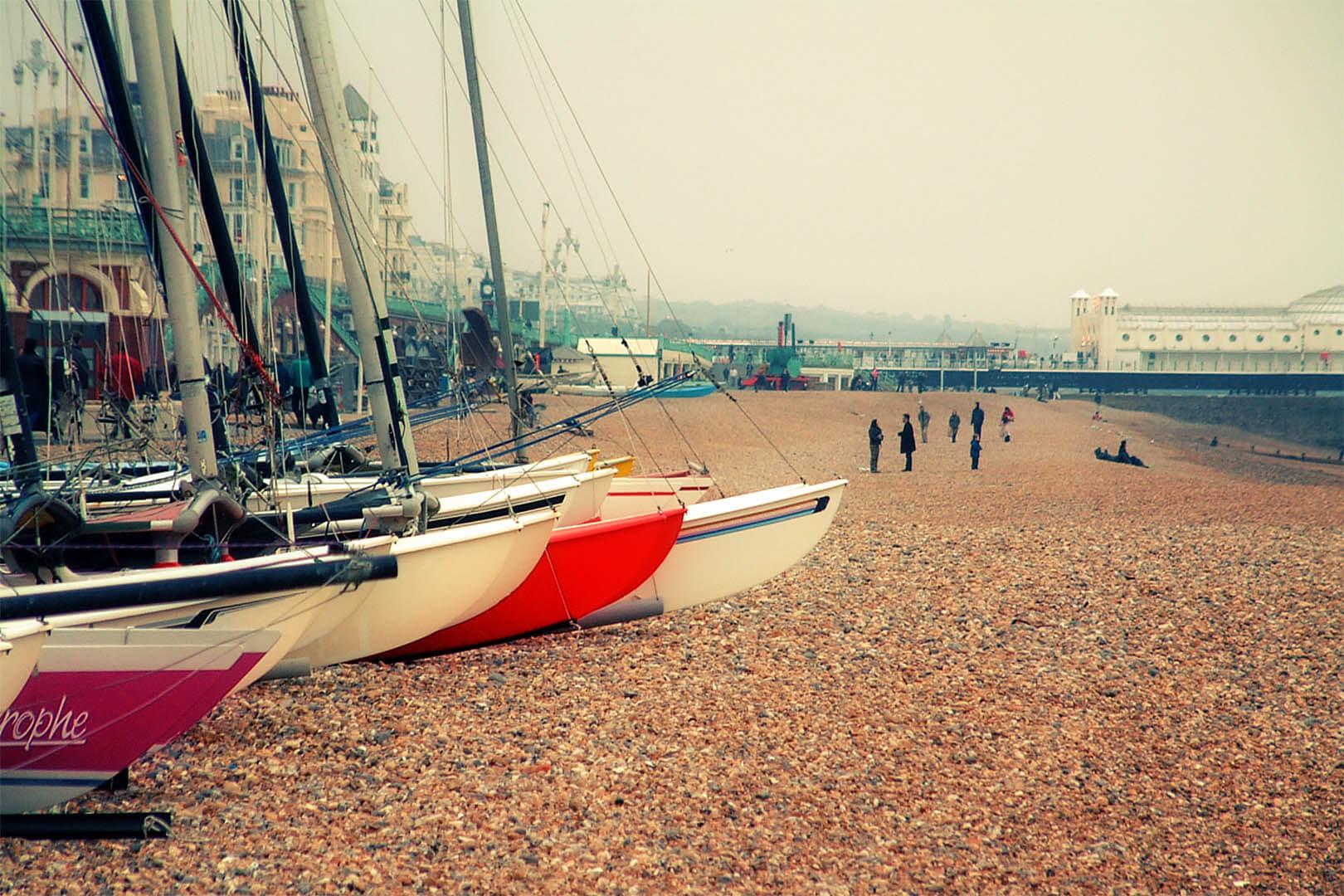 Boats on Brighton Beach
