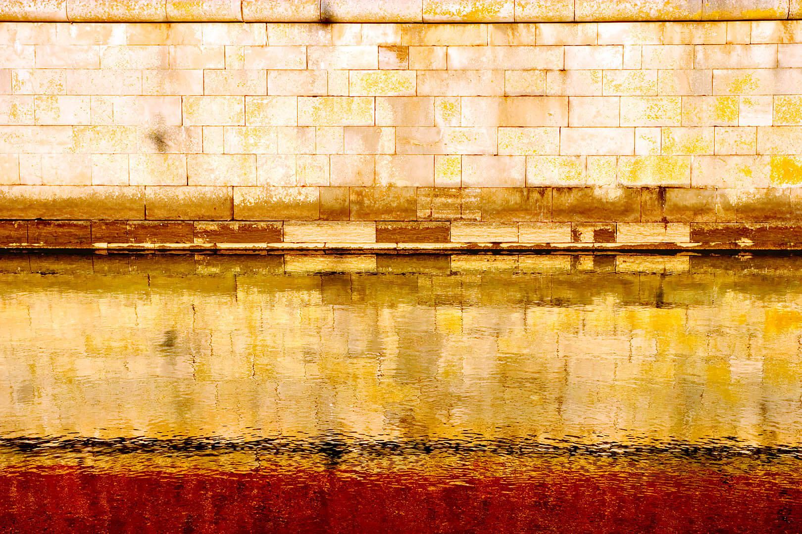 Harbor Wall Reflection