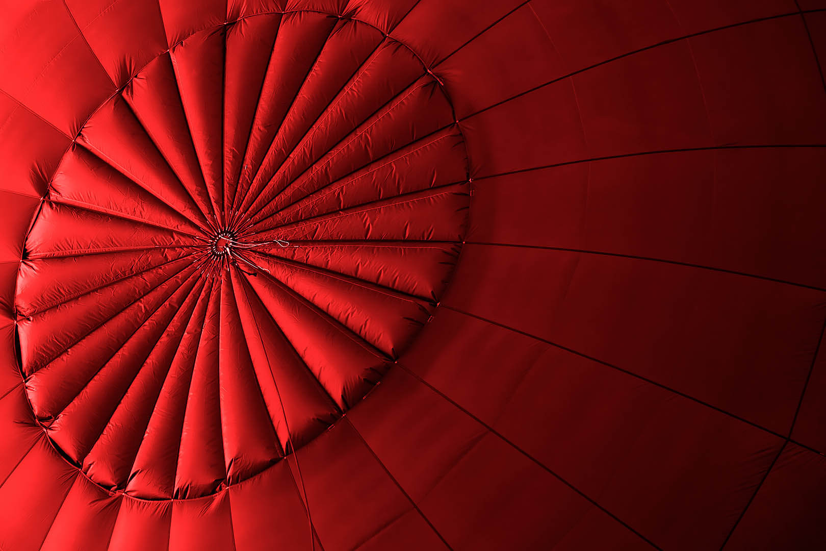 Red Hot Air Balloon Abstract