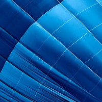 Blue Hot Air Balloon Abstract