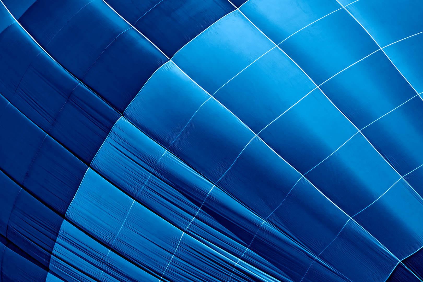 Blue Hot Air Balloon Abstract