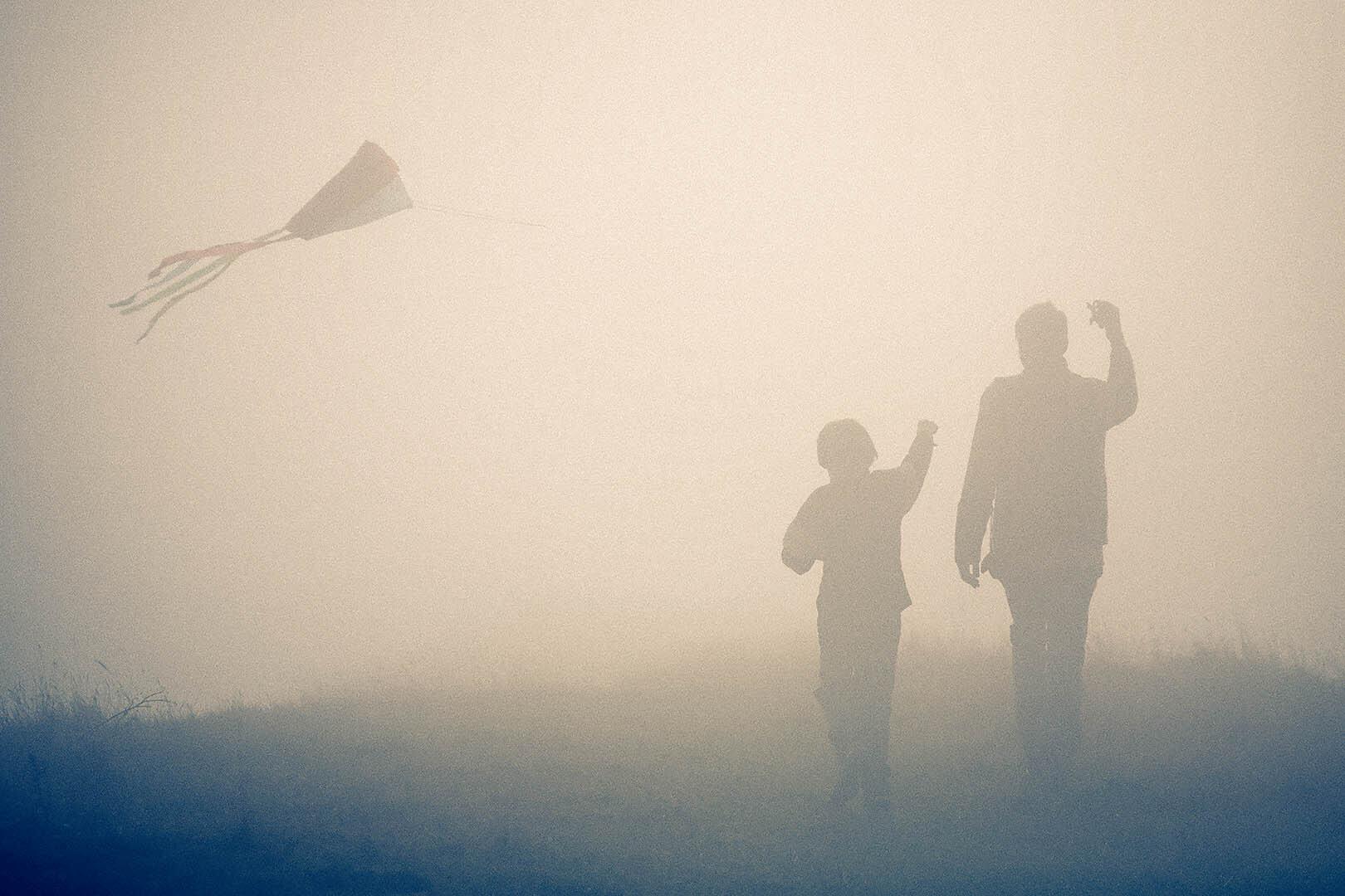 Kite Flying In Fog