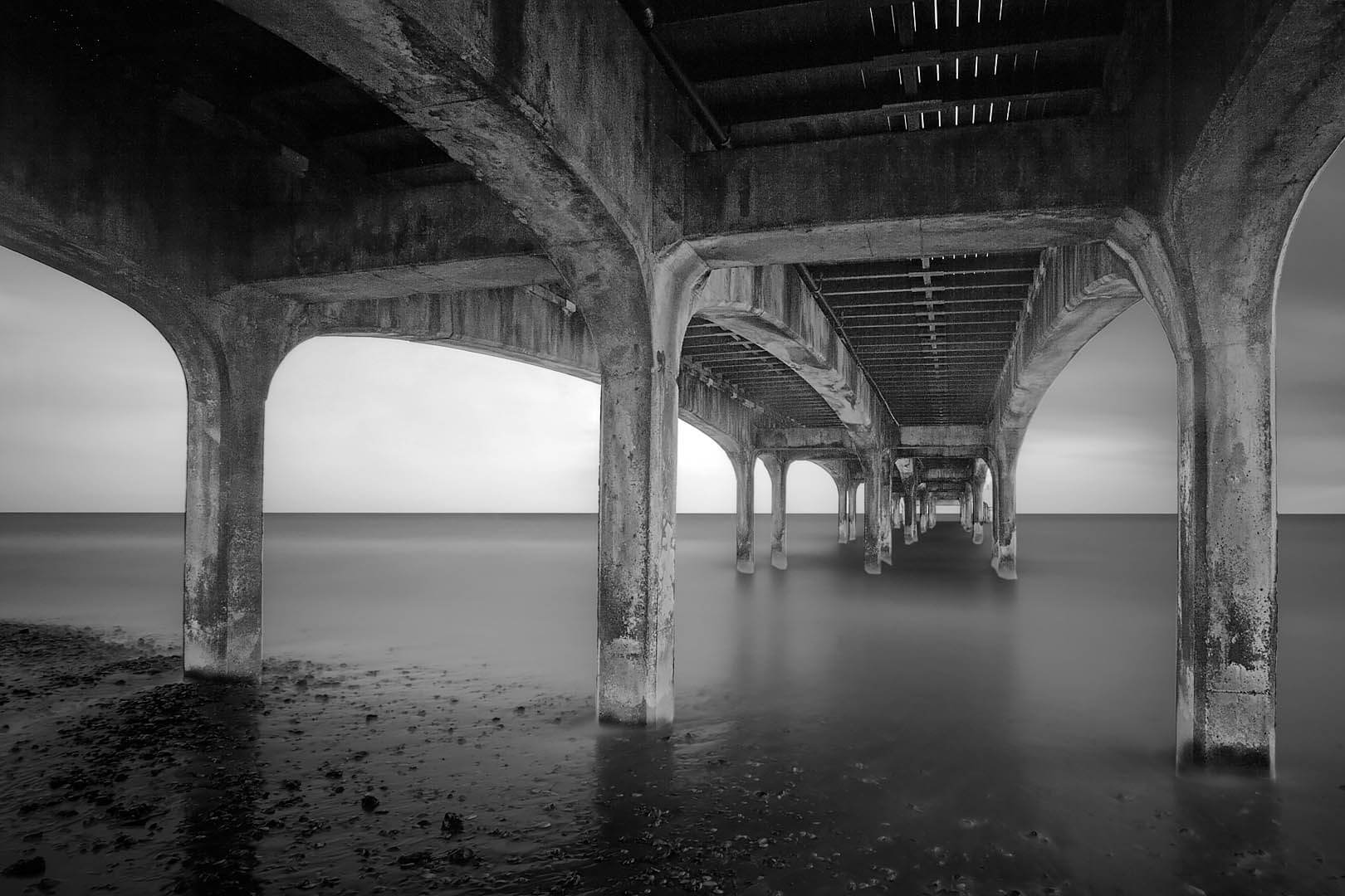 Underneath Boscombe Pier