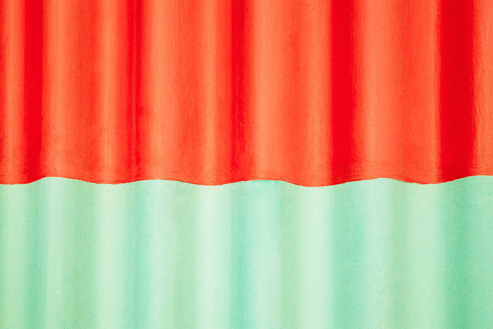 Red and Green Corrugated