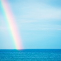 Rainbow At Sea